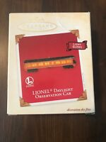 New LIONEL Hallmark Keepsake Daylight Observation Car Christmas Ornament  LIGHTS