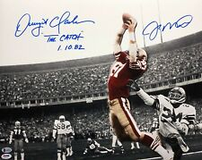 Joe Montana Dwight Clark Signed SF 49ers Sports Illustrated 16x20 Photo PSA/BAS
