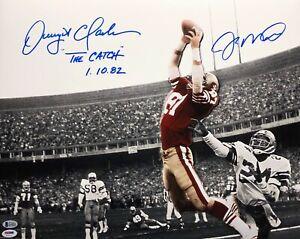 Joe Montana Dwight Clark Signed SF 49ers Sports Illustrated 16x20 Photo PSA/BAS