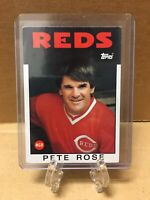 1986 Topps MGR Pete Rose 741 Cincinnati Reds Good Condition Baseball Card