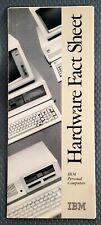 Vintage 1983 IBM Personal Computer Hardware Fact Sheet Sales Brochure