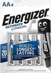 ENERGIZER AA & AAA LITHIUM ULTIMATE BATTERIES LR03 LR6 LONGEST EXPIRY