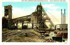 1920's The Coil Coal Company Mine at Madisonville, KY Kentucky PC