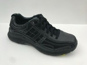 New! Skechers Air-cooled Memory Foam Relaxed Fit Expended Manden Men's Black