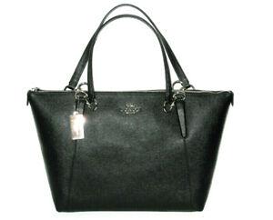 NWT Coach AVA Tote Shoulder Handbag Saffiano Leather Black NEW MSRP $350