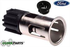 Ford Center Console AUX Power Outlet Socket Cigarette Lighter & Bezel Ring OEM