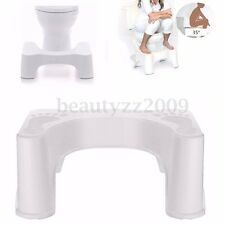 7'' Sit and Squatty Potty Eco Toilet Stool Plastic Healthy Colon White Non-Slip