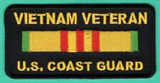 VIETNAM VETERAN US COAST GUARD PATRIOTIC MILITARY BIKER IRON ON PATCH