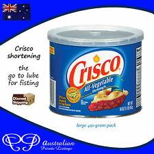 Crisco Shortening All Vegtable based personal lube for fisting