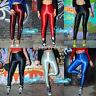 leg15 CFLB High Waisted Neon Coloured Skinny Disco Metallic Pants Leggings 10 12