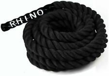 Rhino Fitness Battle Ropes 30/40/50 Feet for Cardio Strength Training Workout
