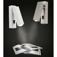 360° Rotation 3W LED Wall Light Flexible Bedside Lamp Indoor Home Reading Light