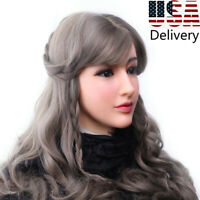 Silicone Female Face Handmade Headwear Crossdresser Halloween Party Shows