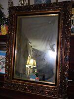 "Vintage Victorian Ornate High Def Fashion-Plate Mirror 27x38"" Frame by Turner"