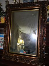 "Vintage Victorian Ornate High Def Fashion-Plate Mirror 27x38"" Frame by Turner"