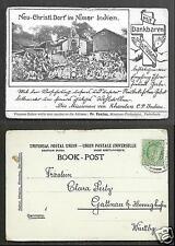 Nimar Village Mission Madhya Pradesh India stamp ca 1899
