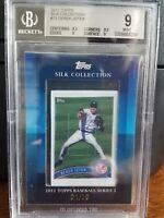2011 Topps Silk Collection Derek Jeter Yankees Baseball Card #73 BGS 9 Pop 2