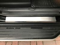 Land Rover DISCOVERY 3 & 4 Chrome Door Sill Scratch Guard 4dr S.STEEL 2004-2016