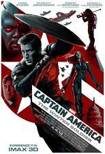 Marvel CAPTAIN AMERICA THE WINTER SOLDIER 2014 IMAX Original Mini Movie Poster