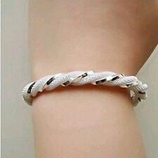 19.1Cm bianco placcato argento braccialetto & SCATOLA REGALO, bambina compleanno