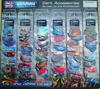 Winmau Dart Flights 30 sets (90) Assorted