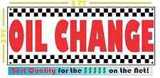 Full Color OIL CHANGE Banner Sign NEW Larger Size for Car Wash Shop Lube filter