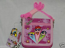 NEW WITH TAGS  PINK POWERPUFF GIRLS STRAP COIN WALLET