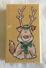 Reindeer Pup Wood Mounted Rubber Stamp Margaret Sherry 2531H Penny Black
