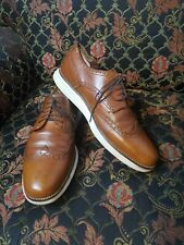 Cole Haan Grand.Os Brown Leather Wingtip Oxford Shoes Size:10.5M