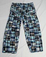 Castaway Men's Cotton Harbor Pant KB7 Dover Patch Madras Size 38x30 NWT $148