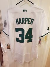 Washington nationals bryce Harper #34 white  large jersey gorgeous