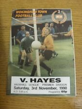 03/11/1990 Wokingham Town v Hayes  . Condition: We aspire to inspect all of our