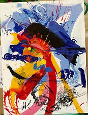 Sérigraphie Raymond Moretti tirage ancien sur vélin
