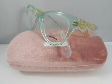 Miu Miu VMU 03N TIV-1O1 Transparent Green New Authentic Eyeglasses 51mm wCase