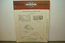 PHILCO RADIO SERVICE MANUAL MODEL CLOCK 53-804