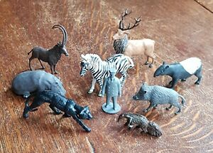 Britain's Plastic Zoo Animals including, Zebra, Hippo, Panther, Boar, c.1970's