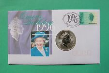 1996 ELISABETTA II 70th COVER Compleanno AUSTRALIA KANGAROO COIN ARGENTO sno43231