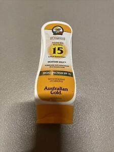 Australian Gold Moisture Max SPF 15 Sunscreen 8 Oz 11/22 Exp