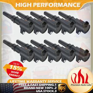 Super 10PACK DG508 IGNITION COIL For FORD F150 4.6L 5.4L 6.8L V8 V10 More Energy