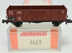 Arnold 4663 K - Hochbordwagen Typ Ommu Villach - Reichsbahn Ep.II - NEU OVP