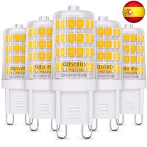 Albrillo Bombillas LED G9 de 3.5W, 40 W Bombilla Halógena Equivalente, Blanco