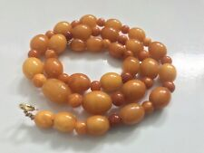 Antique Baltic yellow butterscotch Amber bead necklaces 22 grams