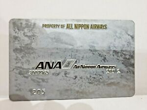 ANA ALL NIPPON AIRWAYS Ticket Validation Plate, Collectible, RARE, VINTAGE