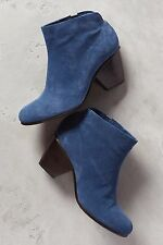 ANTHROPOLOGIE COCLICO DORE BOOTS 37 BLUE ANKLE BOOTIES SHOES PULL ON $395