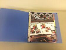 Creative Memories Page Patterns Organizer Binder Filled w page patterns!
