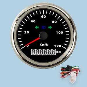 85mm Waterproof Digital Stainless Steel Speedometer Gauge for Car Truck 120KM/H