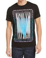 Guess Mens T-Shirts Black Size Medium M Crewneck Mirror Graphic Tee $34 190