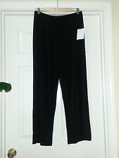 NWT NY Collection Petit  Comfortable Relaxed  Leg, Black ,SZ PXL