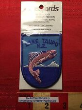 LAKE TAUPO NEW ZEALAND VTG In Package Patch Emblem Fish Fishing 61C2
