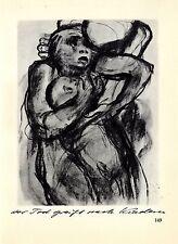 Die deutsche Künstlerin Käthe Kollwitz Der Tod greift nach den Kindern De...1930